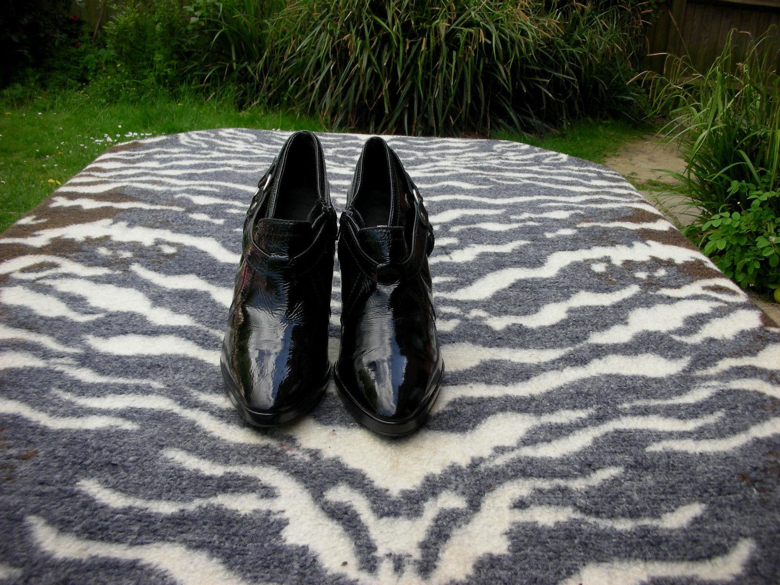 Dune schuhe/Stiefel schwarz Leder high heeled schuhe/Stiefel Dune UK Größe 8 EU Größe 41 bbe98f