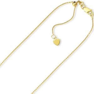 0-9mm-Solid-Adjustable-Cable-Chain-Necklace-REAL-10K-Yellow-Gold-Up-To-22-034-2grm