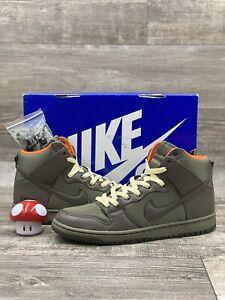 Nike-Dunk-High-Premium-SB-Frank-Kozik-Size-9-313171-328-Green-Orange-Black