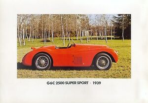 5315AL-Alfa-G6C-2500-Super-Sport-1939-Prospektbeilage-1983-Bildprospekt