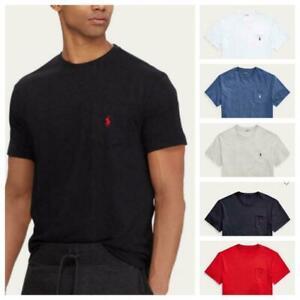 Men-039-s-Polo-Ralph-Lauren-Classic-Fit-Pocket-Casual-Active-Tee-T-Shirt