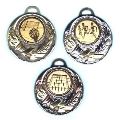 20 Medaillen silber mit Emblem + Band #600 (Pokale Kindergeburtstag Turnier)