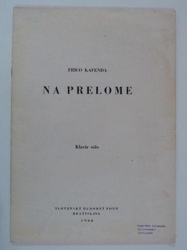Piano solo FRICO KAFENDA na prelome , 1966