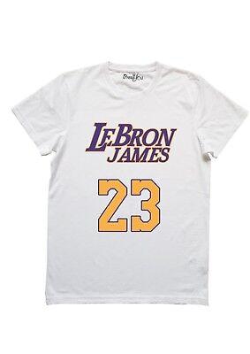 accogliente fresco pensieri su data di uscita T-Shirt Maglietta canotta Lebron James Lakers NBA uomo donna ...
