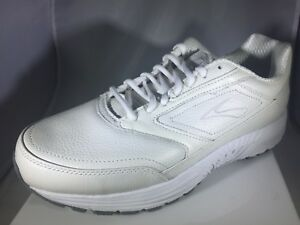 3c0a6489c8aff Brooks Dyad Walker New Womens Size 11 D Wide White Leather Shoe