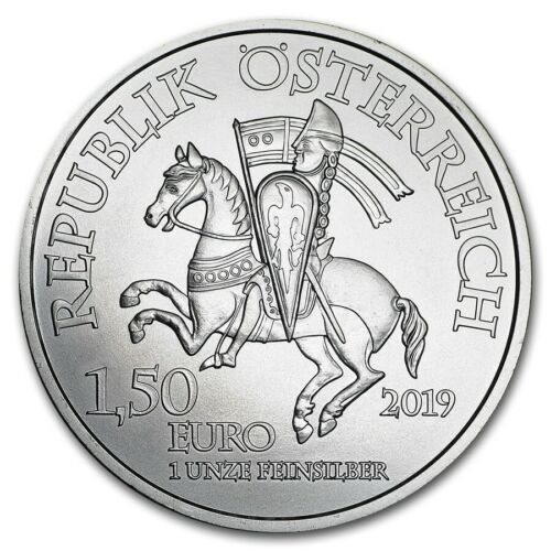2019 Austria 825th Anniversary Of LEOPOLD DUKE V €1.5  1 Oz Silver
