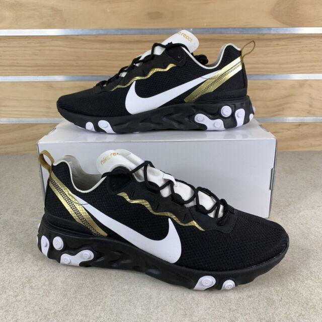 Size 13 - Nike React Element 55 SE Black Metallic Gold 2019 for ...