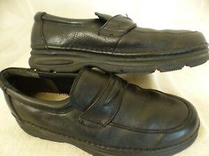 Wonderlite Walter Black Leather Slip-on
