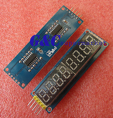 2pcs 8 digital LED Display Module eight serial module 595 drives M57