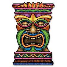 3ft Jumbo Tiki Card Cutout - Hawaiian Exotic Luau Themed Party Decorations