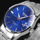 New Mens Watch Stainless Steel Band Date Analog Quartz Sport Wrist Watch Army Z2