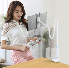 Tablet Long Arm Stand Car Desktop Bed Clamp Holder For iPad iPhone Mini Tablet