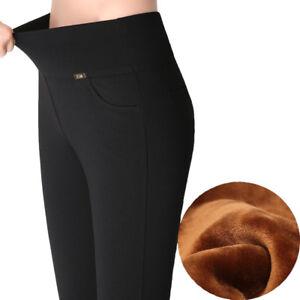 4d4bca53ad6 Big Plus Size S-4XL Women Autumn Winter Velvet Warm Leggings Elastic ...