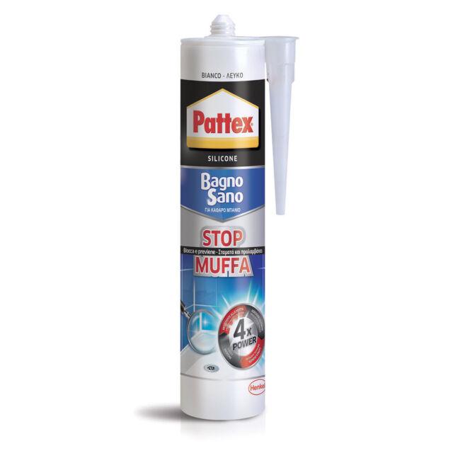 PATTEX Bagno Sano Stop Muffa Sigillante neutro 300 ml Bianco