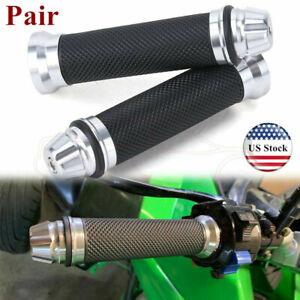 Pair of 7//8 Inch 22mm Titanium Motorcycle Handlebar Hand Grips CNC Aluminum Universal for Kawasaki Honda Yamaha KTM Hyosung BMW