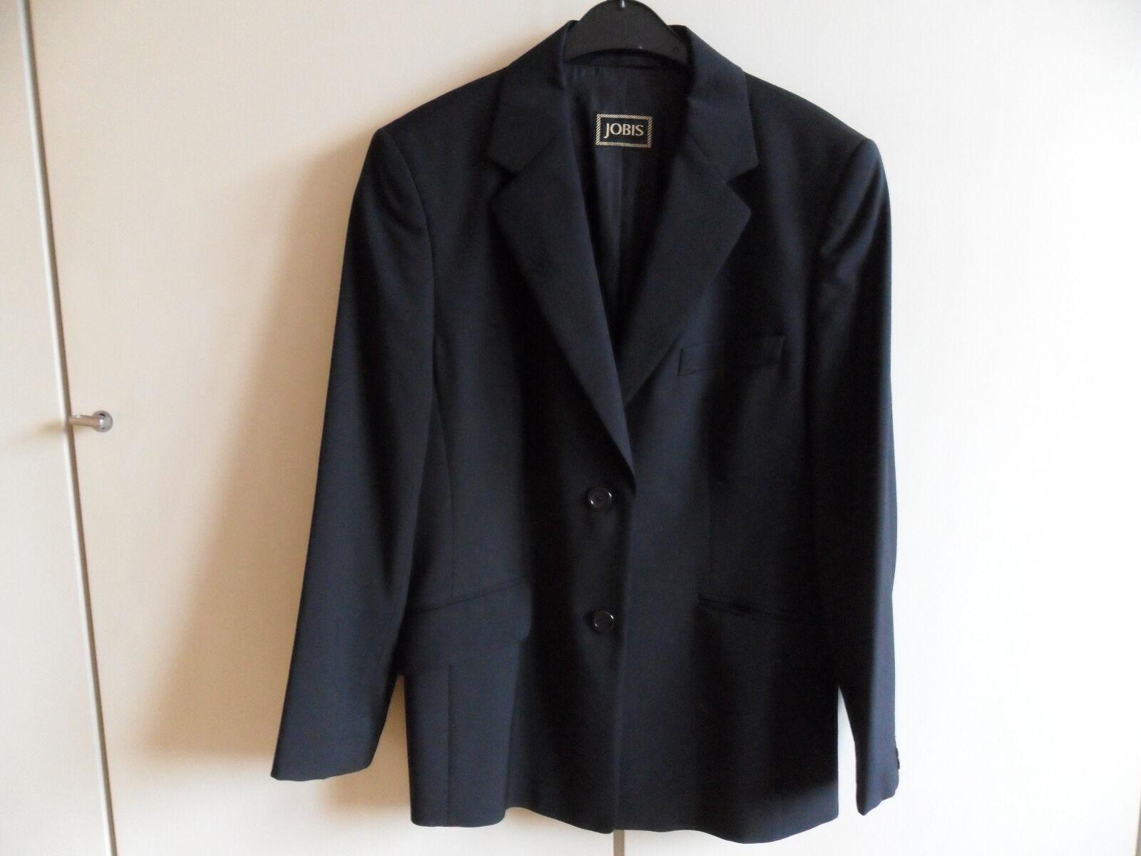 Damenblazer, Damenjacke, Gr. 40 42, schwarz, Schurwolle, JOBIS