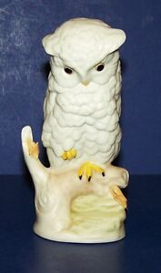 LOVELY-VINTAGE-CYBIS-HAND-PAINTED-PORCELAIN-BABY-SNOWY-OWL-4-1-2-034-FIGURINE