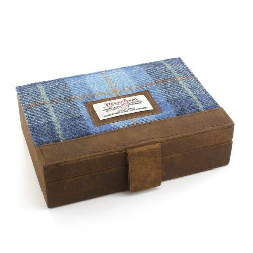Coffret à Castle bijoux Harris tartan Bay bleu de tweed en rrROadn6qw