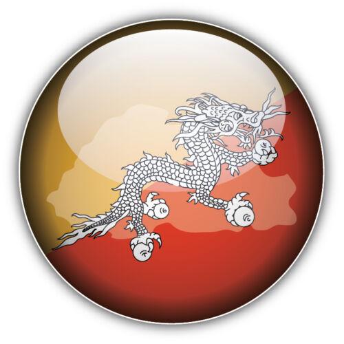 Bhutan Glossy Map Flag Car Bumper Sticker Decal 5/'/' x 5/'/'