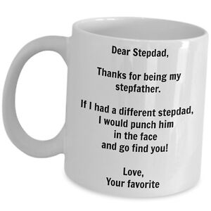 Details About Gift For Step Dad Funny Coffee Mug Gag Cup Father Birth Day Christmas Wedding Us