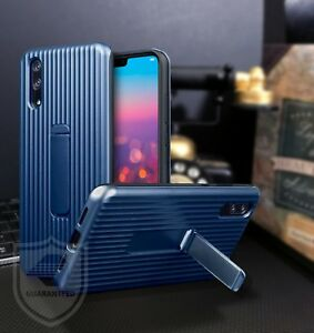 Huawei-P20-Rugged-Bumper-Cover-Industrial-Case-amp-Stand-Blue-Veta