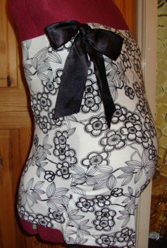 BNWT MATERNITY Black//White Bow Detail Sleeveless Top//Boob Tube Size Medium