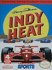 DANNY SULLIVAN'S INDY HEAT CLASSIC NINTENDO GAME ORIGINAL NES HQ