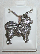 CHIHUAHUA Long Hair Dog Harris Fine Pewter Pendant w Chain Necklace USA Made