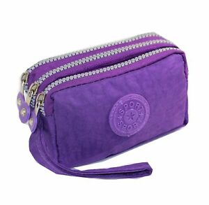 Phone-Wristlet-Pouch-Tainada-Triple-Zip-Wristlet-Pouch-Bag-with-Bonus-Stainless