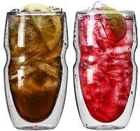 Ozeri Serafino Double Wall Insulated Iced Tea And Coffee Glasses, 16-ounce, Set on sale