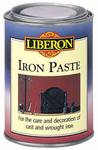 Liberon-Iron-Paste-250ml-Black-Graphite-Cast-amp-Wrought-Iron-Metal-Reviver