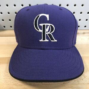 Colorado-Rockies-MLB-Baseball-New-Era-59FIFTY-Fitted-Cap-Size-7-1-8-EUC-Hat