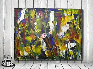 Abstract-Spring-Acrylic-Painting-by-Antonio-Lopes-Signed-The-Wax-Shack