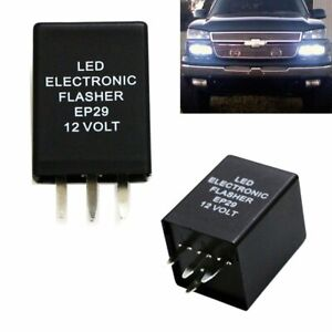 4-Pin EP29 EP29N LED Flasher Relay Fix Fit LED Turn Signal Lamps Hyper Flash USA