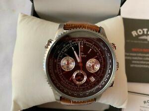 Men-039-s-Rotary-Chronospeed-Chronograph-Quartz-Watch-Used-in-Original-Box