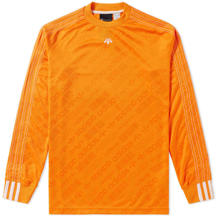 Men's Brand New Adidas FBall Athletic Fashion Long Sleeve Jersey [BR0233]