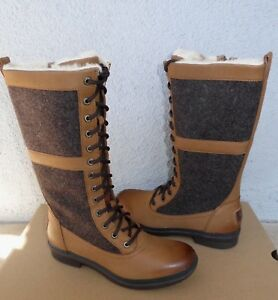 87a9b6194db Details about UGG ELVIA WATERPROOF RAIN TALL SHEARLING BOOTS Sz 5 MSRP $250  New