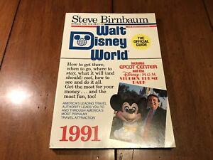 FREE-SHiP-Vintage-Walt-Disney-World-Official-Guide-Steve-Birnbaum-1991-NM