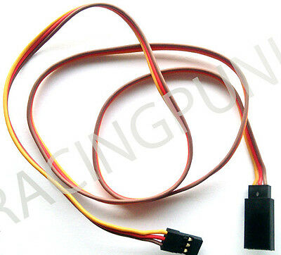 600mm 60cm Servo Extension Lead Wire Futaba gold Connectors male /& female Plugs