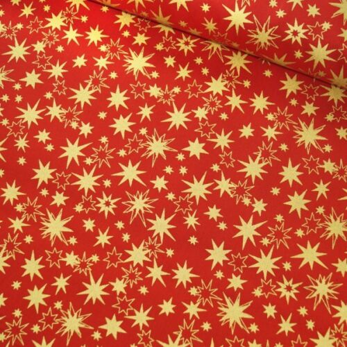 100/% Cotton Christmas Explosive Celebration Stars Fabric 135cm Wide