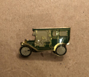Lot Of (10) Antique Vintage Enamel Car Lapel Pins