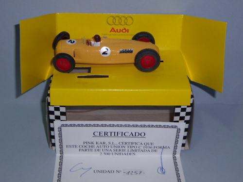 Pink Kar CV-011 Auto Union Type C F1 1936 Yellow Limit.ed