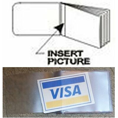 USA Quality 4 Page Vinyl BiFold Wallet Insert For Pictures Credit Card FAST SHIP
