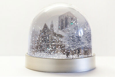 Snow Globe of York Minster from the front and back, Snowing in York,snow shaker