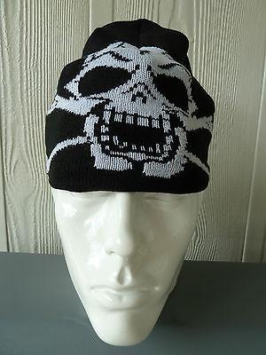 NWT Biker//Skull//Cross//Gothic mens beanies//skull cap BEANIE CAP HAT SKULL
