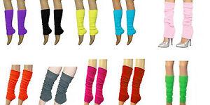 Ladies-Leg-Warmers-girls-Neon-80s-Plain-Colours-Tutu-Leg-Warmers-many-teens