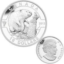 2013 O Canada Series $10 Fine Silver Beaver  (TAX Exempt)