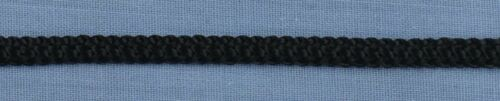 per metre 4mm Black Knitted Polyester Lacing Cord
