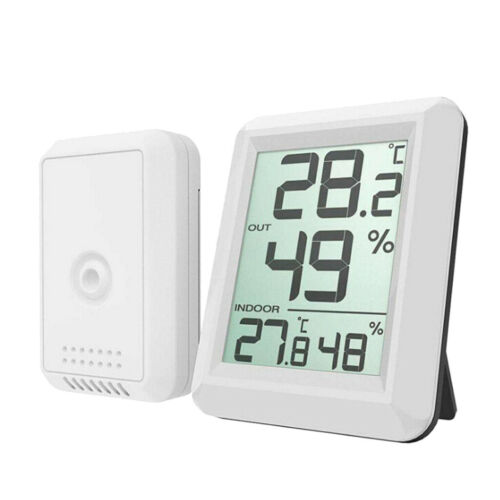 Digital Wireless Hygrometer Indoor Outdoor Thermometer Humidity Monitor