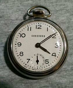 65108a846 Image is loading SERVICED-Westclox-RARE-Coronado-Dollar-Character-Pocket- Watch-